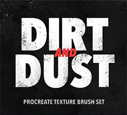 极品Procreate笔刷-12支污垢和灰尘效果:Dirt and Dust - Procreate Brushes