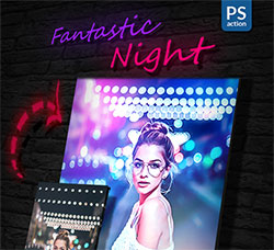 PS动作-梦幻夜调:Fantastic Night PS Action