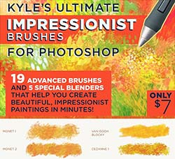 极品PS工具预设-印象派笔刷:Kyles IMPRESSIONIST Brushes for PS
