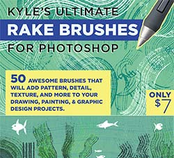 极品PS工具预设-耙子笔刷:Kyles Rake Brushes for Photoshop