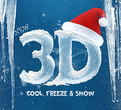 极品PS样式-100多个3D冰体字效(含PSD/ABR文件):New 3D Ice Cool, Freeze & Snow Text Effe