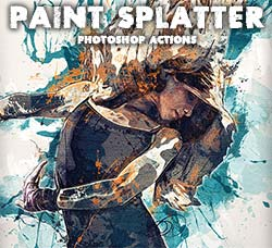 极品PS动作-油漆飞溅:Paint Splatter - Photoshop Actions