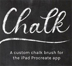 极品Procreate笔刷-粉笔效果:Procreate Chalk Brush