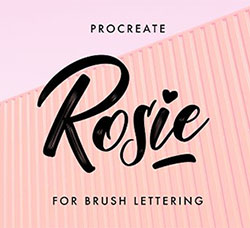 极品Procreate笔刷-罗西手写效果:Rosie Procreate Lettering Brush