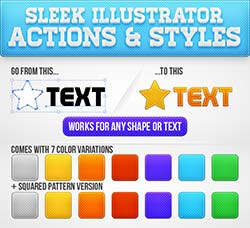 时尚的illustrator图形样式和动作:Sleek Illustrator Actions & Styles