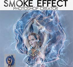 极品PS动作-烟雾环绕(6种效果):Smoke Photo Effect Photoshop Actions