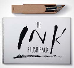 AI画笔-14个水墨笔刷:The Ink Brush Pack