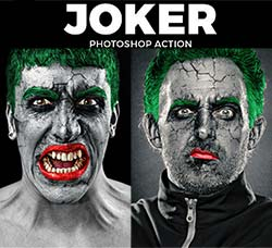 PS动作-丑态人生:The Joker Photoshop Action