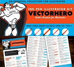 极品AI画笔-美工钢笔(40支):VectorHero Brushes for Illustrator