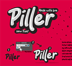 卡通漫画休闲英文字体(含AI样式文件):Piller the casual trendy font