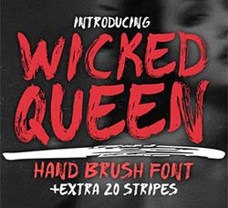 皇家级英文书法字体:WICKED QUEEN Brush Font +extra